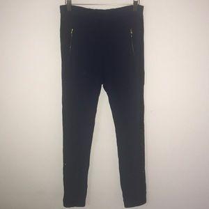 Crewcuts Girls Glitter Stripe Navy Sweatpants